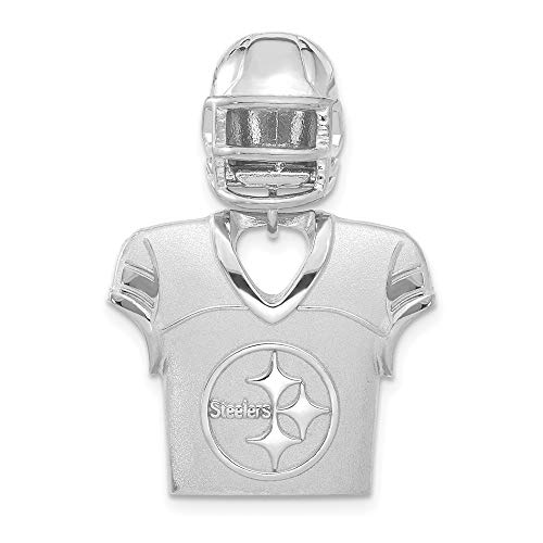 - NFL Sterling Silver Pittsburgh Steelers Jersey and Helmet Pendant