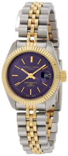 - Charles-Hubert, Paris Women's 6566 Classic Collection Two-Tone Stainless Steel Watch