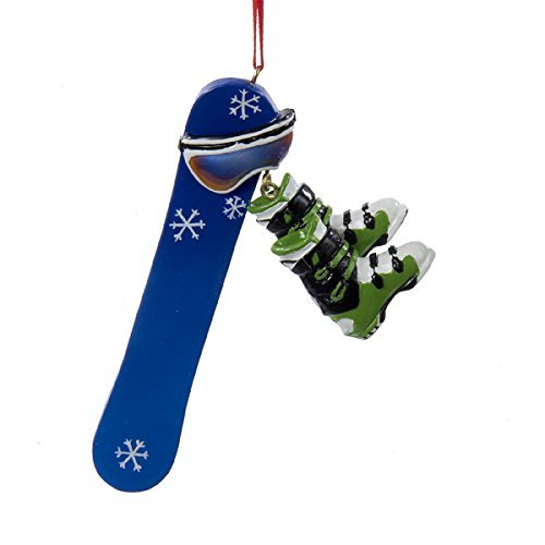 Kurt Adler 4.5 Resin Snowboard Personalization Ornament by Ask (Snowboard Resin)