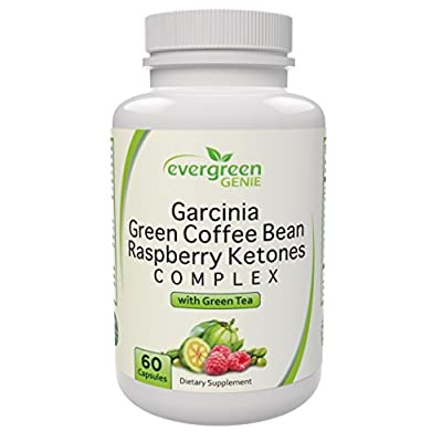 Best Garcinia Cambogia Green Coffee Bean Extract Raspberry Ketones with Green Tea - Pure Natural Blend Weight Loss Supplement to Burn Fat Suppress Appetite and Boost Energy