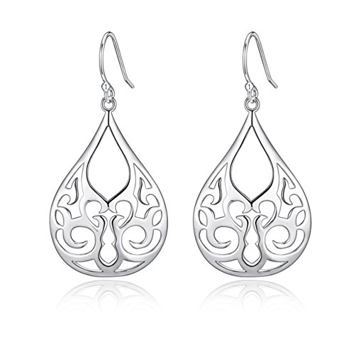 Highly Polished Sterling Filigree Earrings