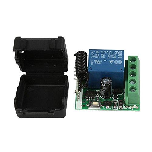 TOOGOO 12V DC 1CH 433MHz RF interrupteur de commande a distance sans fil Module de relais recepteur universel 433 MHz Kit de bouton de lemetteur Diy