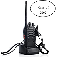 Case of 2000 ,Retevis H-777 2 Way Radios with Earpiece and USB Programming Cable