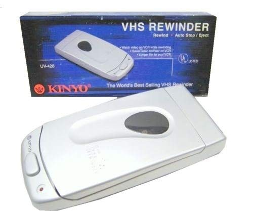 Best Prices! Kinyo UV-428 VHS Video Cassette Tape Rewinder VCR Auto Stop Soft Eject