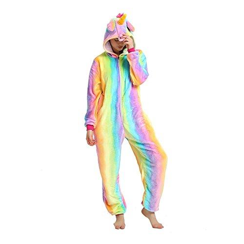 Tickos Pajamas Adults Jumpsuits Rompe Unicorn Rainbow Sleepwear Cosplay Zipper Costumes Siamese -