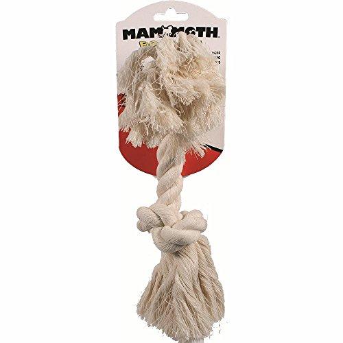 Flossy Chews 100-Percent Cotton White Rope Bone, Medium, ()