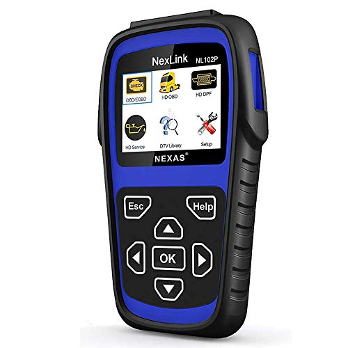 AUTOPHIX Heavy Duty Truck Scan Tool NL102 Plus Auto Scanner with DPF/Sensor Calibration/Oil Reset + Check Engine for Cars; Truck & Car 2 in 1 Code Reader (NL102 Plus)