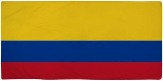 CafePress Bandera de Colombia – Toalla de playa blanco estándar: Amazon.es: Hogar