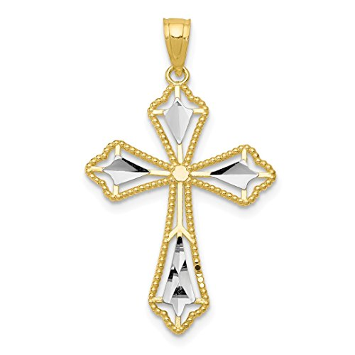 10k Yellow Gold Cross Religious Pendant Charm Necklace Passion Fine Jewelry For Women Gift Set
