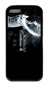 iPhone 5C Case, iPhone 5C Cases - Black Soft Rubber Shock-Absorption Bumper Case for iPhone 5C Cristiano Ronaldo Celebration Water Resistant Back Case for iPhone 5C