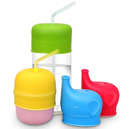 kid cups with lids and straws - 7