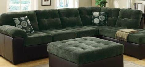 Amazon.com: Layce Dark Green Morgan Fabric Sectional By Acme Furniture:  Kitchen U0026 Dining