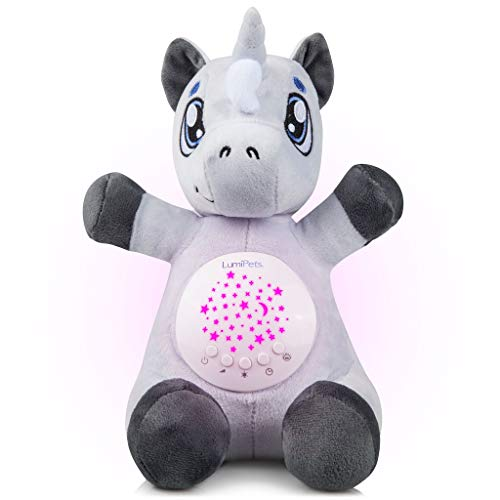 (Baby White Noise Machine Music soothers for Sleep: Lumipets Night Light Projector and Sound Machine Baby Shusher Unicorn Stuffed Animal Baby)
