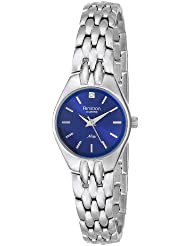 Armitron Womens 75/5197BLSV Diamond Accented Blue Dial Silver-Tone Bracelet Watch