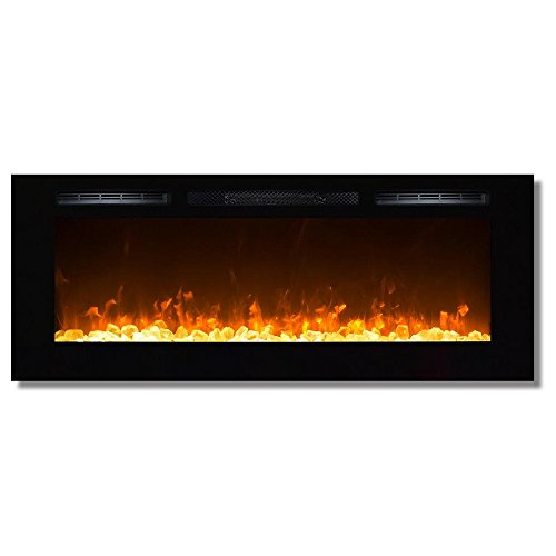 Gibson Living GL2050CY Sydney 50 Inch Crystal Recessed Wall Mounted Electric Fireplace