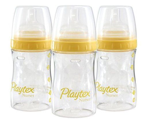 Lot-of-4-Playtex-4oz-Drop-ins-System-Nurser-Baby-Playtex-Bottles-Mom-Solutions-Comes-with-5-Drop-ins-Liners