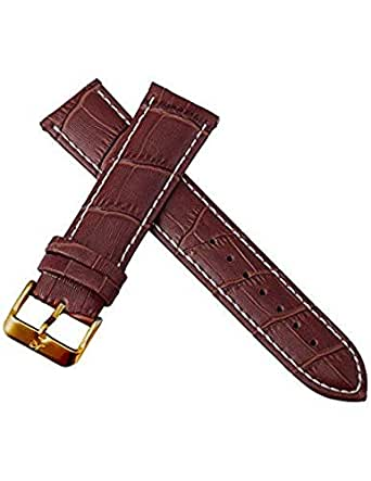 24MM Genuine Brown Leather Band