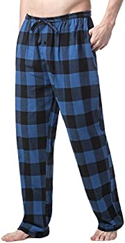 Lapasa Mens M39 100% Cotton Flannel Plaid Pajama Pants