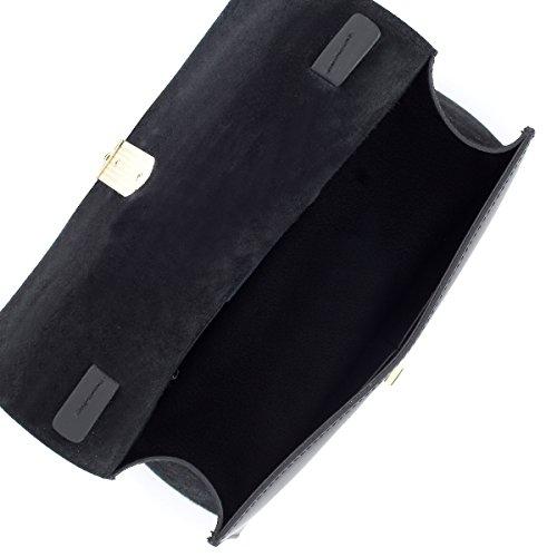 SEREBAGS , Damen Schultertasche schwarz schwarz