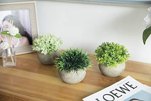 home, kitchen, home décor, artificial plants, flowers, artificial shrubs, topiaries,  artificial topiaries 6 on sale The Bloom Times 2 Pcs Fake Plants for promotion