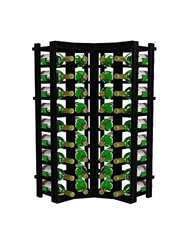Winemaker Series Wine Rack - Curved Corner - 3 Ft - Pine Midnight Black Stain -
