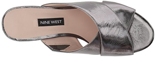 Nine West Women's Freddius Metallic Sandal Pewter WCrhS7MH