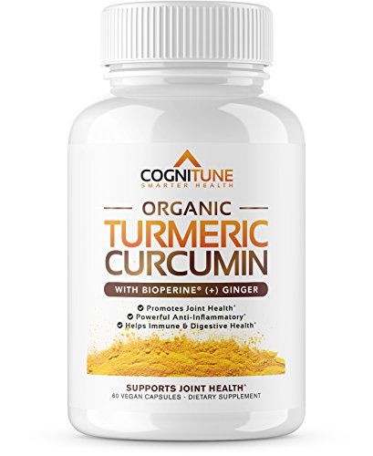 Pure Organic Turmeric Curcumin Supplement with BioPerine Black Pepper Extract & Ginger – Premium Natural 95% Curcuminoids – Extra Strength Anti-Inflammation, Joint Support & Weight Loss – 60 Capsules For Sale