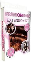 Press On Hair 7 Piece Extension Kit, Auburn, 4.1 Ounce