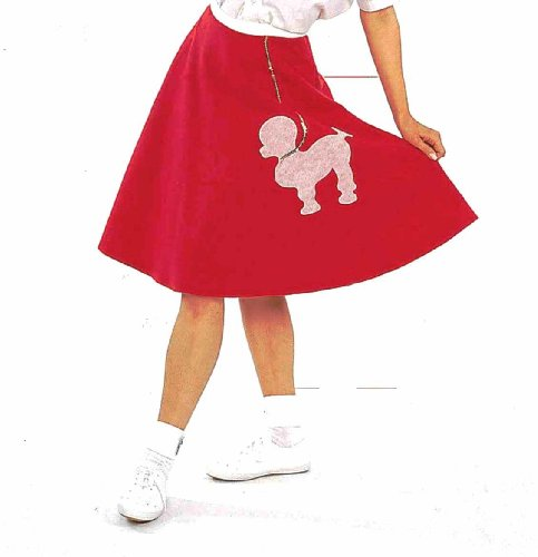 Red Poodle Skirt Costumes (Forum Felt Costume Poodle Skirt, Red, One Size)
