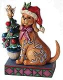 Enesco Jim Shore Heartwood Creek Christmas Dog Figurine, 5-1/4-Inch