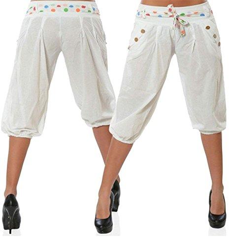 Con Estivi Pantaloni Bianca Pantaloni Tempo Stile Inclusa Cintura 3 Classiche 4 Tasche Donne Monocromo Accogliente Corto Moda Modern Hipster Pantaloni Button Pieghe Unique Traspirante Pants Donna Libero BBqXrY