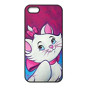 Aristocats iPhone5s Cell Phone Case Black TPU Phone Case SV_101424