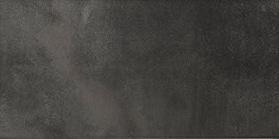 """Emser Tile F02COSMCH1224 """"Cosmopolitan"""" Porcelain Tile, 12"""" x 24"""", Charcoal"""