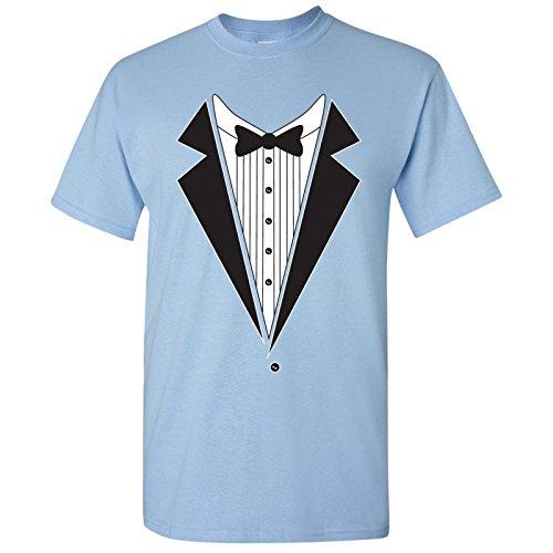 Basic Tuxedo - UGP Campus Apparel Tuxedo Shirts T-Shirt Basic Cotton - 3X-Large - Light Blue