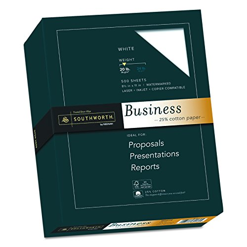 (Southworth Fine Business Paper, 20.05 Cotton, 20 lb , White,500 Sheets (403C))