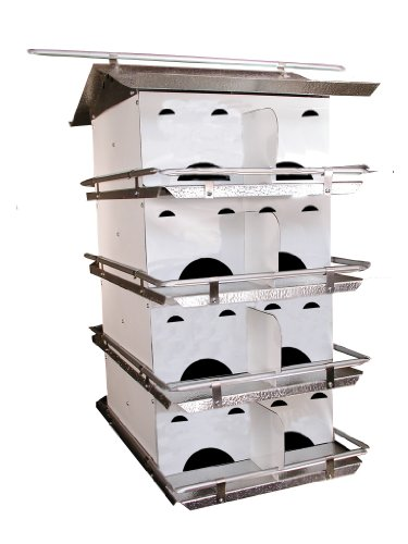 Birds Choice 4-Floor-16 Room Purple Martin House with Sta...