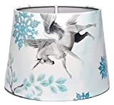 Unicorn Lampshade or Ceiling Light Shade Glitter Princess Castle Horses Pony Snow Flake Girls Pink Unicorn Princess Themed Bedroom Room Playroom Toddler Baby Nursery 10' DUAL PURPOSE