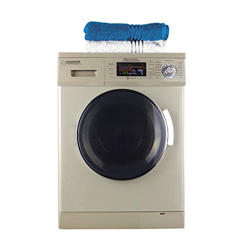 """Equator 24"""" Compact All-in-One Combo Washer-Dryer, Vented or Ventless, 1200 RPM, Auto Water, Auto Dry, Winterize, Quiet, Fully Digital (Champagne Gold) 2019 Model"""