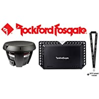 Rockford Fosgate Power T1D412 12 dual 4-ohm voice coil component subwoofer and Rockford Fosgate T1000-1bdCP Power Series mono sub amplifier — 1,000 watts RMS x 1 at 2 ohms and a SOTS Lanyard