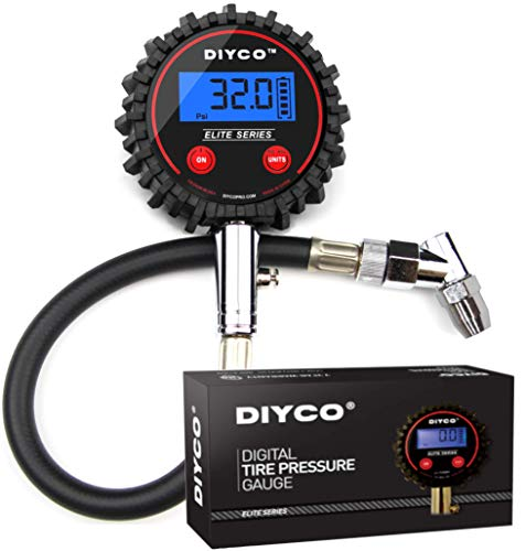 DIYCO D1 Elite Series Digital Tire Pressure Gauge | 5-200 PSI | Professional Grade (Dirt Bike Tire Gauge)