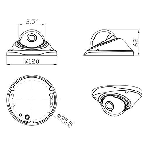 2.0MP 1080P 180 Degree Wide Angle Panoramic IP Fisheye Lens Mini CCTV Dome Camera de vigilancia