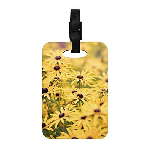Kess InHouse Debbra Obertanec Pantone Yellow Flower Daisy Decorative Luggage Tag, 4 by ()