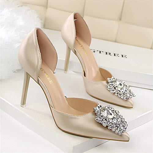Moda Shoes Sandali Spillo Femminile Tacco A Col Scarpe Nuovo Moquite 2019 Con Alto Ed Primavera Sexy Donna Estate Oro wp7xAnfq
