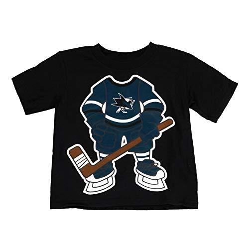 (Outerstuff San Jose Sharks Toddler Black Hockey Player T-Shirt)