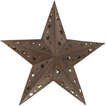 クリスマスクリエイティブ大きな鉄の芸術五芒星のキャンドルホルダー屋外防風ヴィンテージゴーストキャンドルランプペンダントハロウィンのためのギフト中庭、保育園、庭、カフェ、バーのための感謝祭
