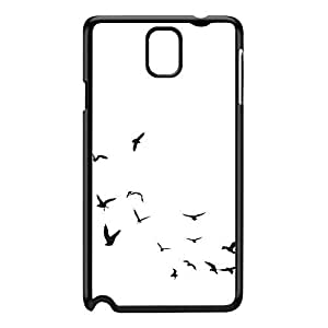 Birds in Flight White Black Hard Plastic Case for Galaxy Note 3 by Gadget Glamour + FREE Crystal Clear Screen Protector