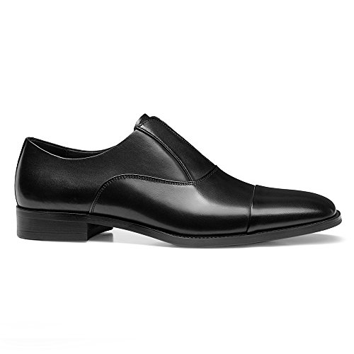Classic Leather Oxford Shoes Black Modern Men's GIFENNSE Shoes Dress OqSZq