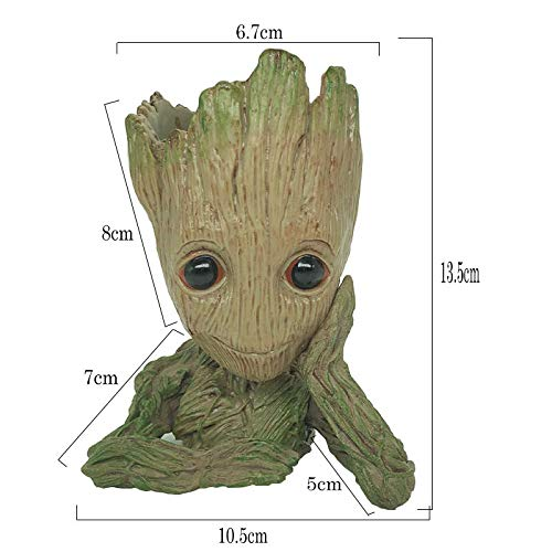 Best baby groot flowerpot Resin Groot Potted Indoor Pots for Flowers Heroes Around The Galaxy Guardian Shabu Shabu Handmade Model Ornaments Flower Pot