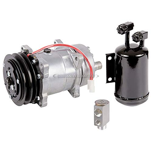 AC Compressor w/A/C Drier & Exp For VW Golf & Jetta Mk2 1985-1992 - BuyAutoParts 60-82201RS New