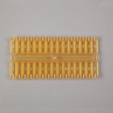 Devine Medical Narcotic Dispenser Lids, Amber 5-3/8''L X 2-3/4''W X 3/16''D -200 Per Package